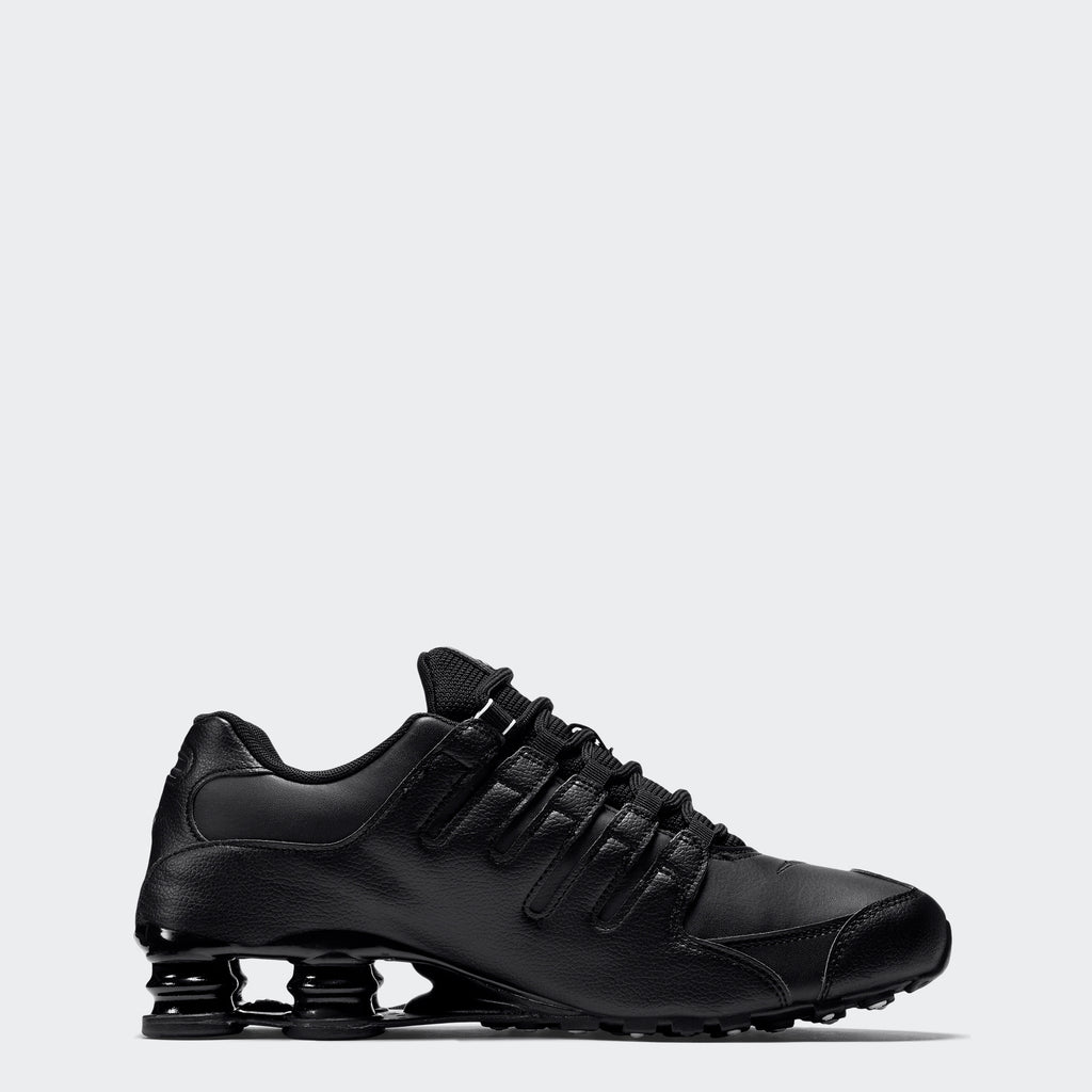 Men's Nike Shox NZ EU Shoes Black (SKU 501524-091) | Chicago City Sports | side view