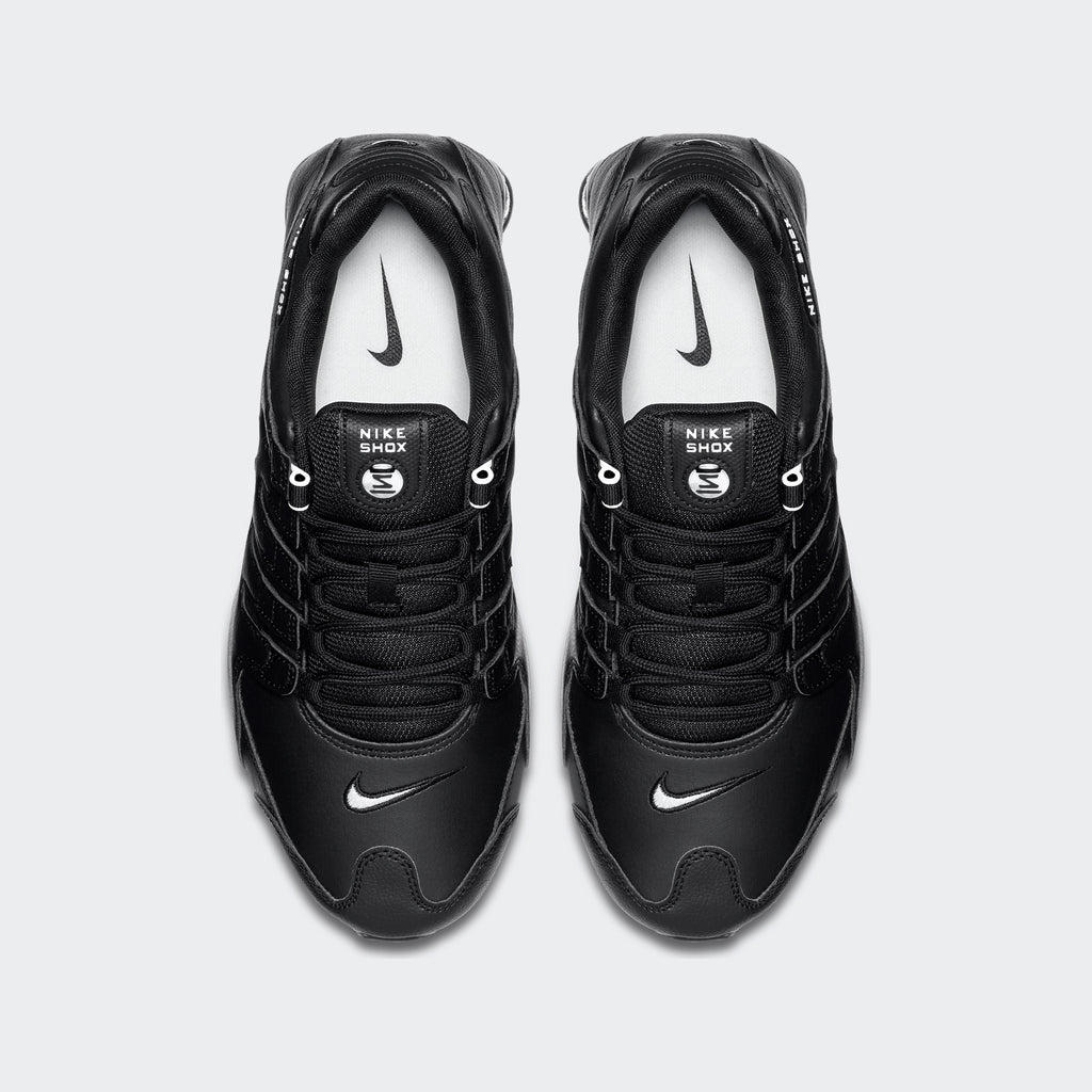 Men's Nike Shox NZ EU Shoes Black (SKU 501524-091) | Chicago City Sports | top view