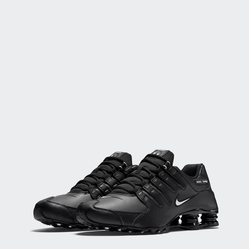 Men's Nike Shox NZ EU Shoes Black (SKU 501524-091) | Chicago City Sports | front view