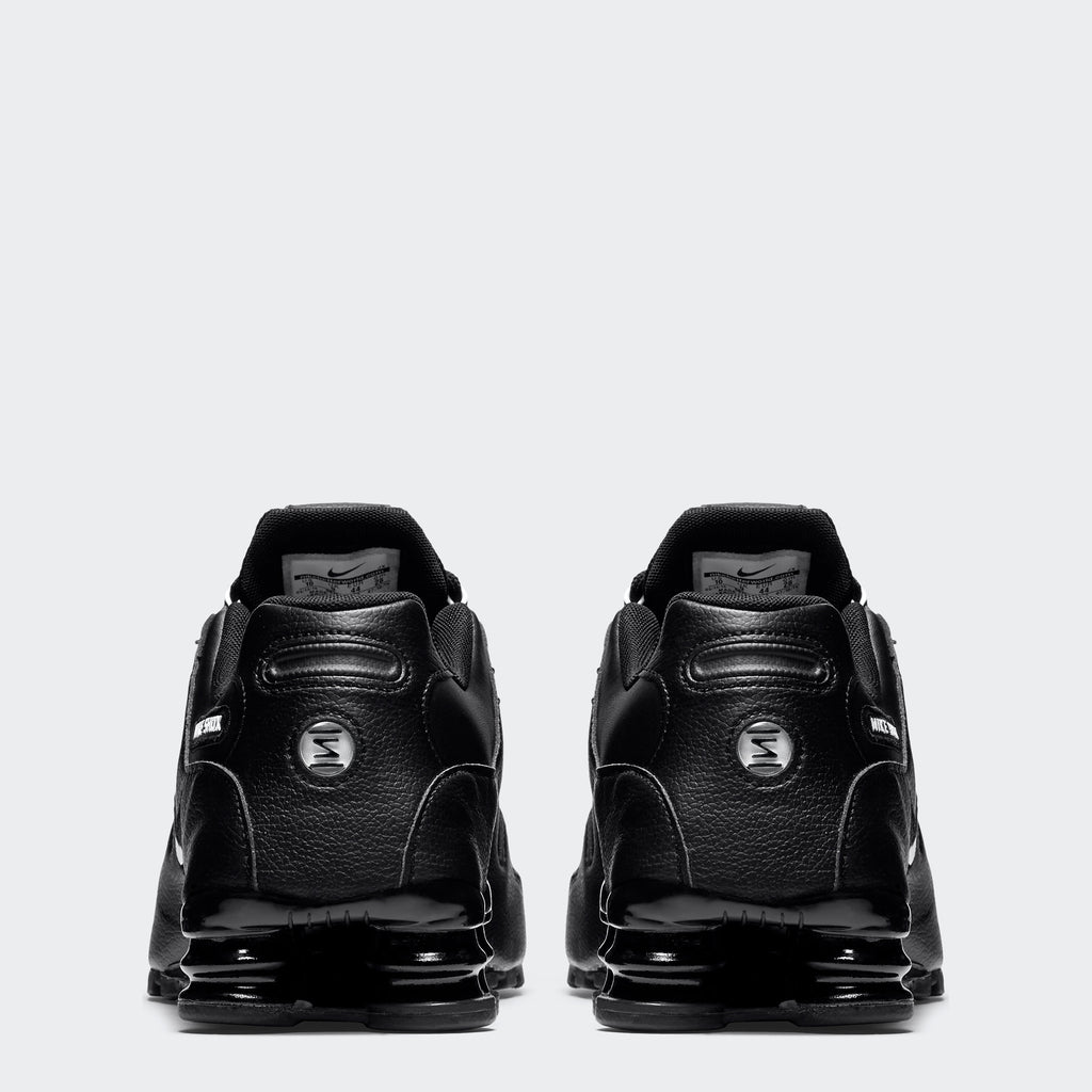 Men's Nike Shox NZ EU Shoes Black (SKU 501524-091) | Chicago City Sports | rear view
