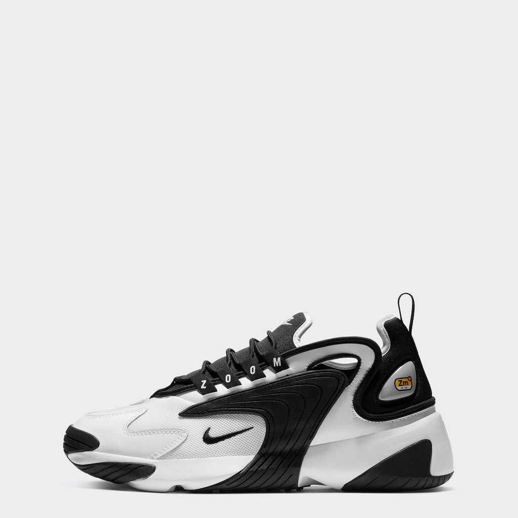 Men's Nike Zoom 2K Shoes White Black (SKU AO0269101) | Chicago City Sports | side view