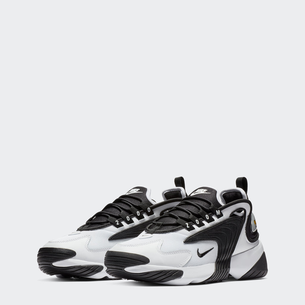 Men's Nike Zoom 2K Shoes White Black (SKU AO0269101) | Chicago City Sports | front view