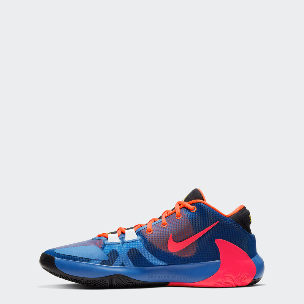 Men's Nike Zoom Freak 1 Shoes Total Orange/Black/Blue Void/Dynamic Yellow (SKU CT8476-800) | Chicago City Sports | side view