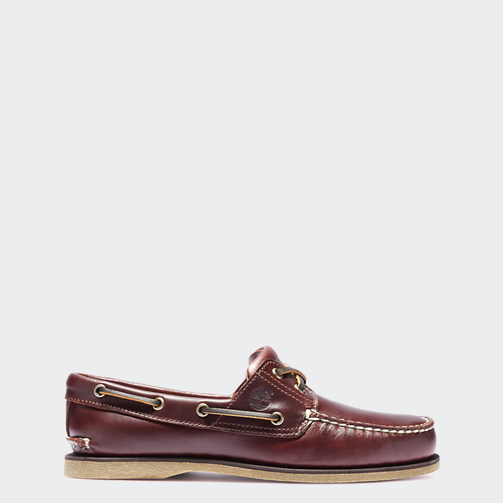 Men's Timberland 2-Eye Boat Shoes Root Beer