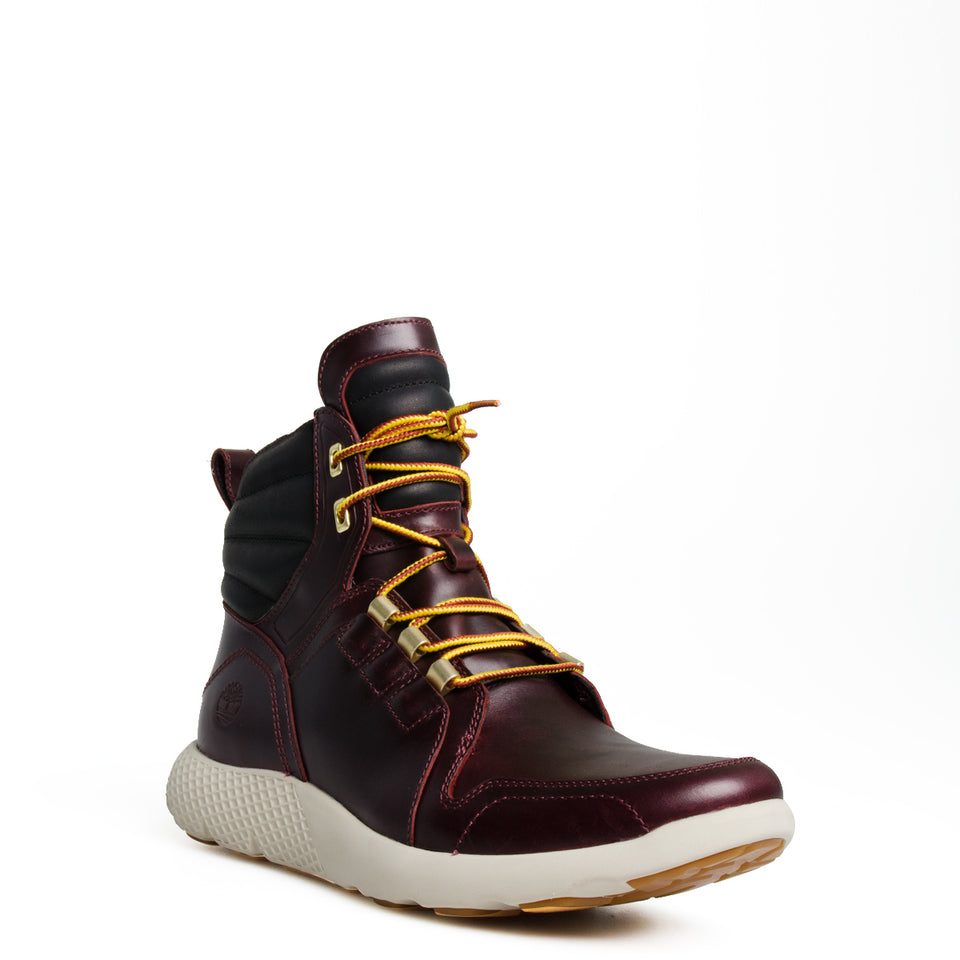 Men's Timberland Flyroam Leather Boots Burgundy