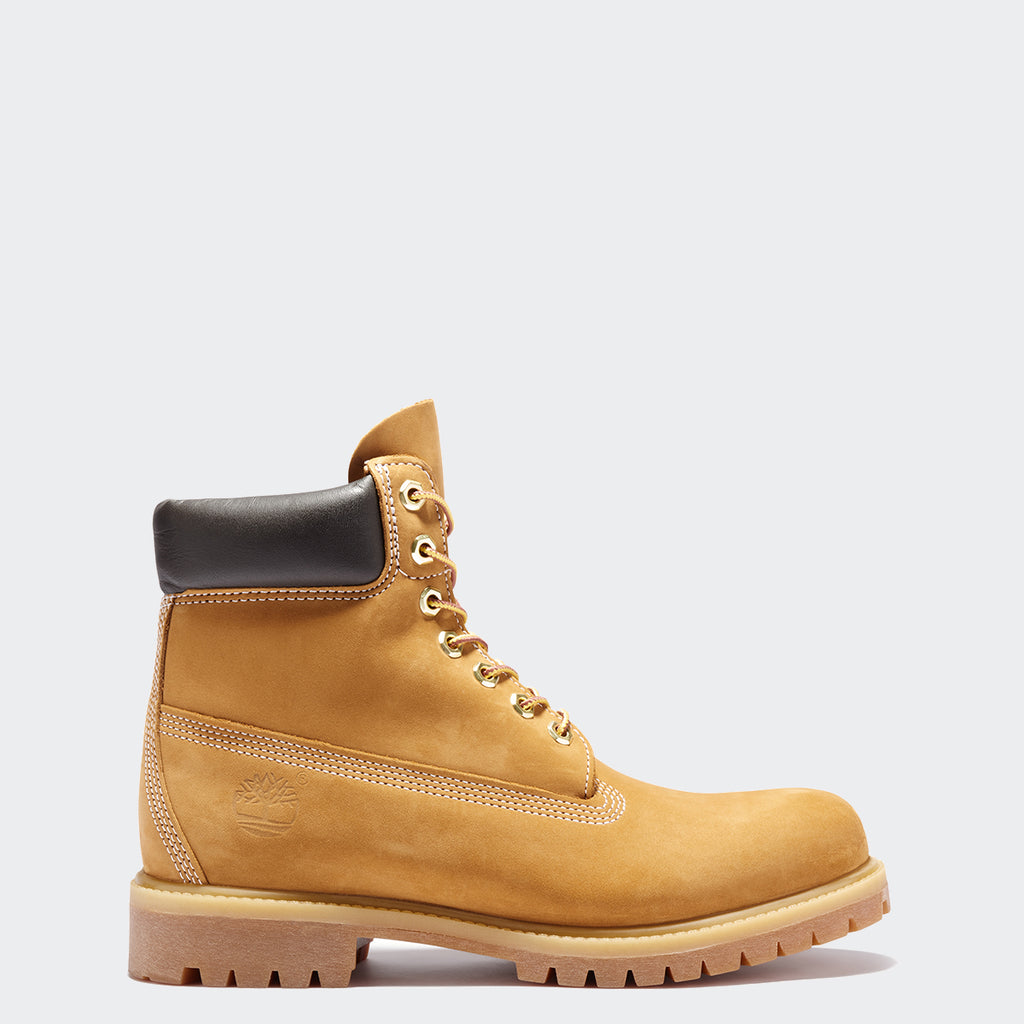 Men's Timberland Icon 6-Inch Premium Waterproof Boots Wheat Nubuck (TB010061713) | Chicago City Sports | side view