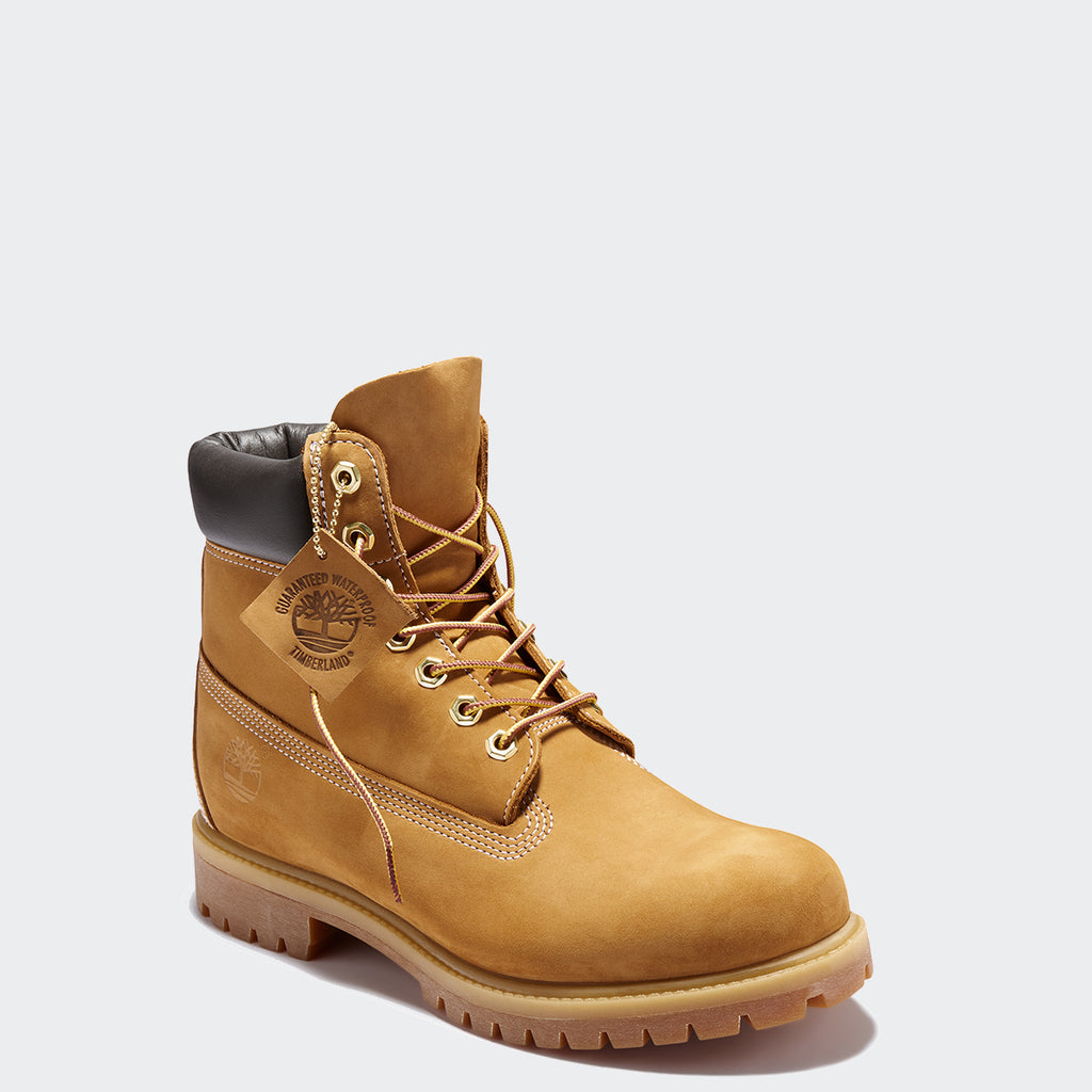Men's Timberland Icon 6-Inch Premium Waterproof Boots Wheat Nubuck (TB010061713) | Chicago City Sports | front view