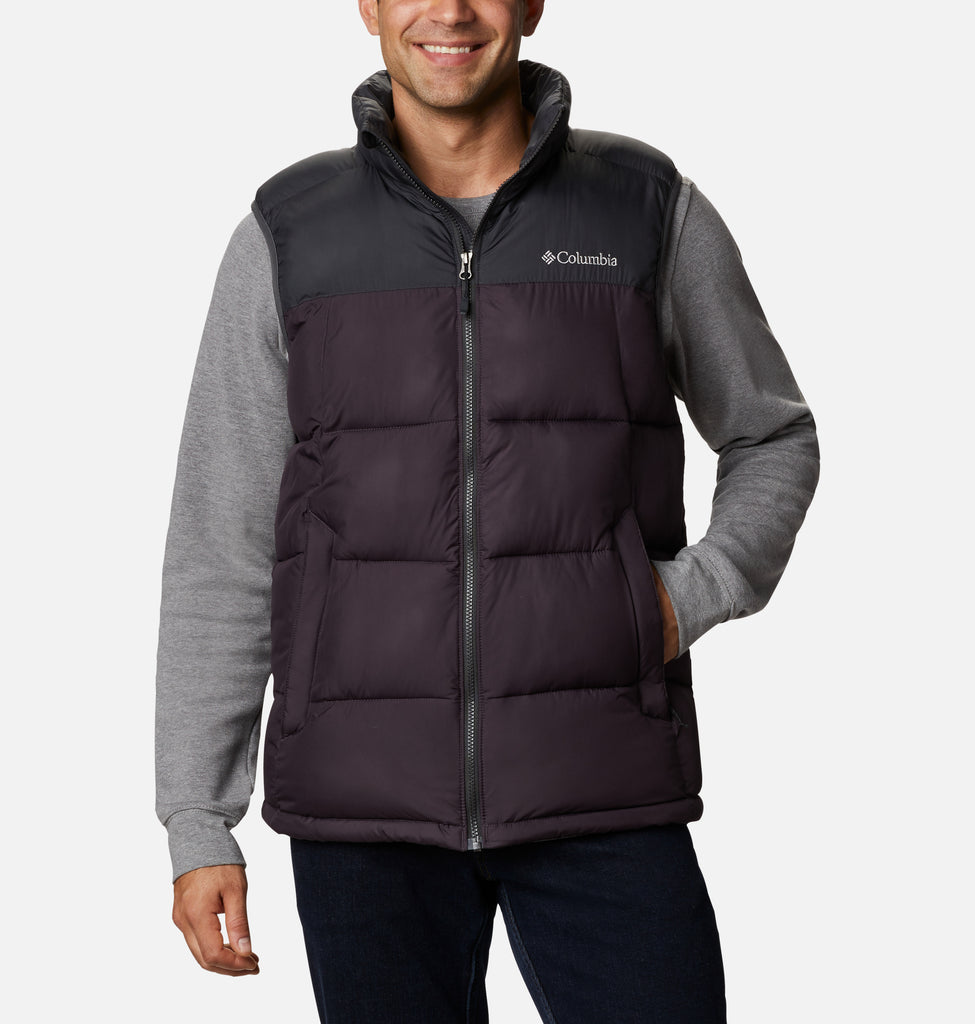 Men's Columbia Pike Lake Vest Purple 1738011511 | Chicago City Sports | front view