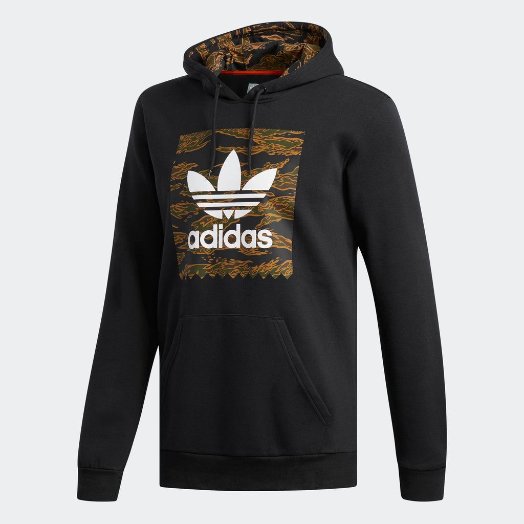 Men's adidas Originals Blackbird Hoodie Black Camo Print