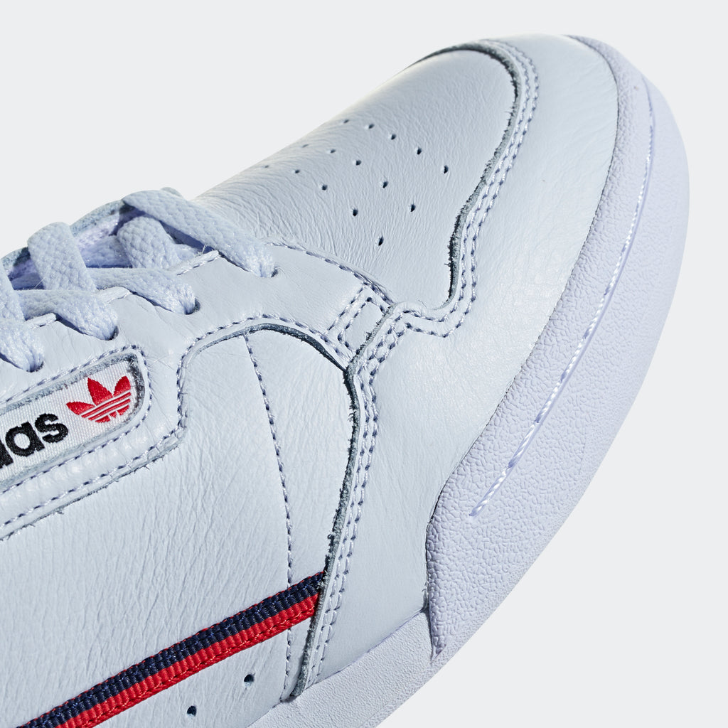 Men's adidas Continental 80 Shoes Aero Blue SKU B41673 | Chicago City Sports | close-up view of toe area