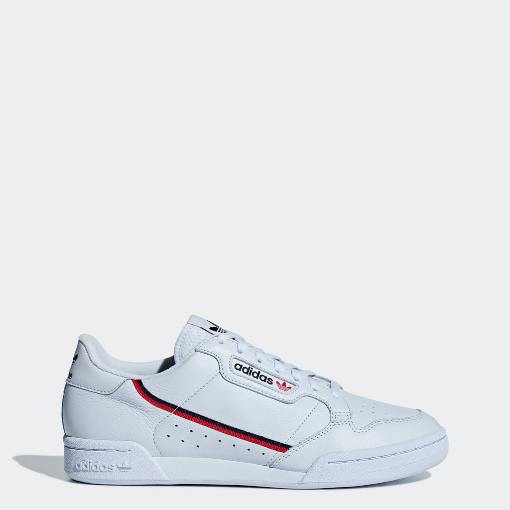 Men's adidas Continental 80 Shoes Aero Blue SKU B41673 | Chicago City Sports | side view