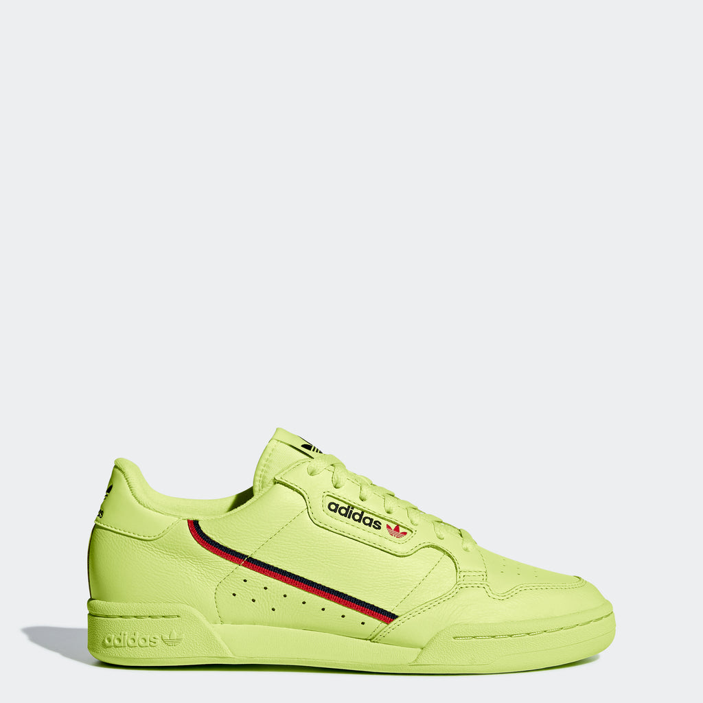 Men's adidas Continental 80 Shoes Yellow SKU B41675 | Chicago City Sports | side view