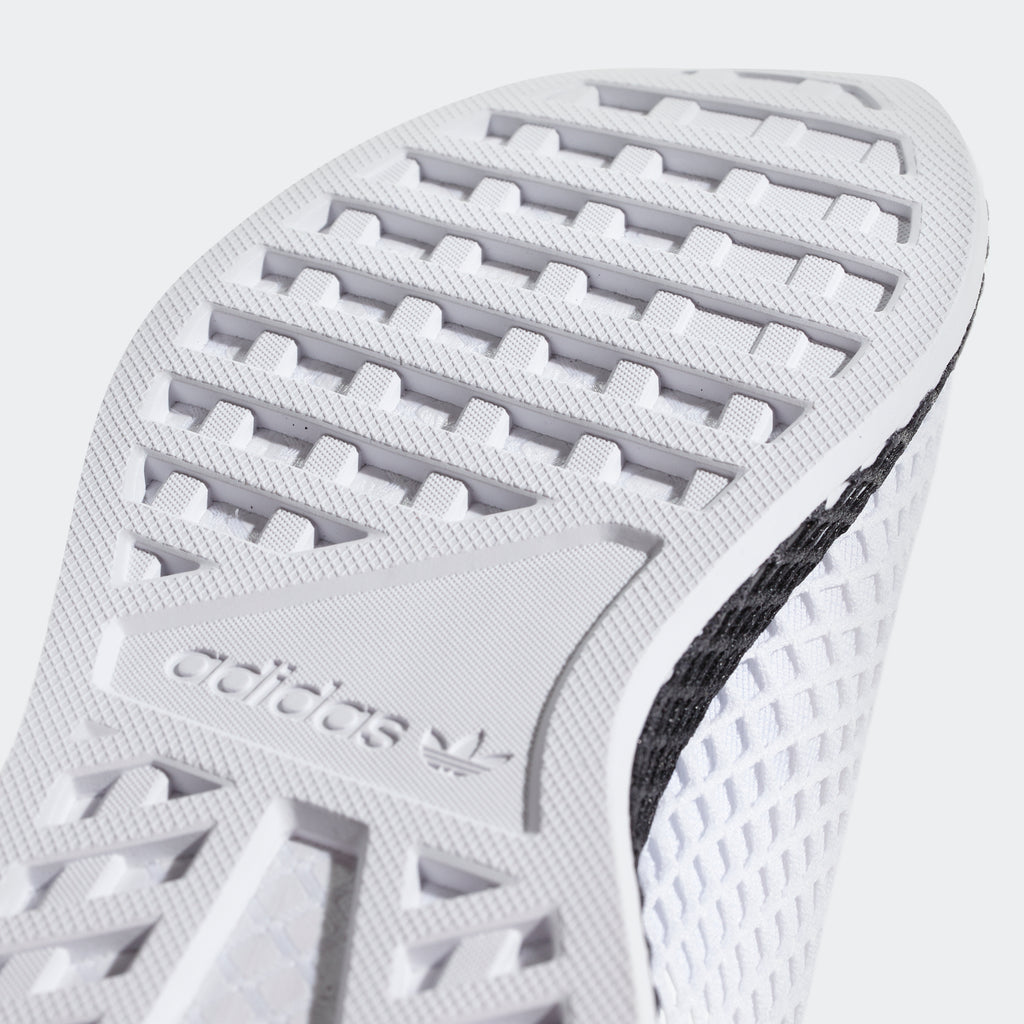 Men's adidas Originals Deerupt Runner Shoes Cloud White Core Black