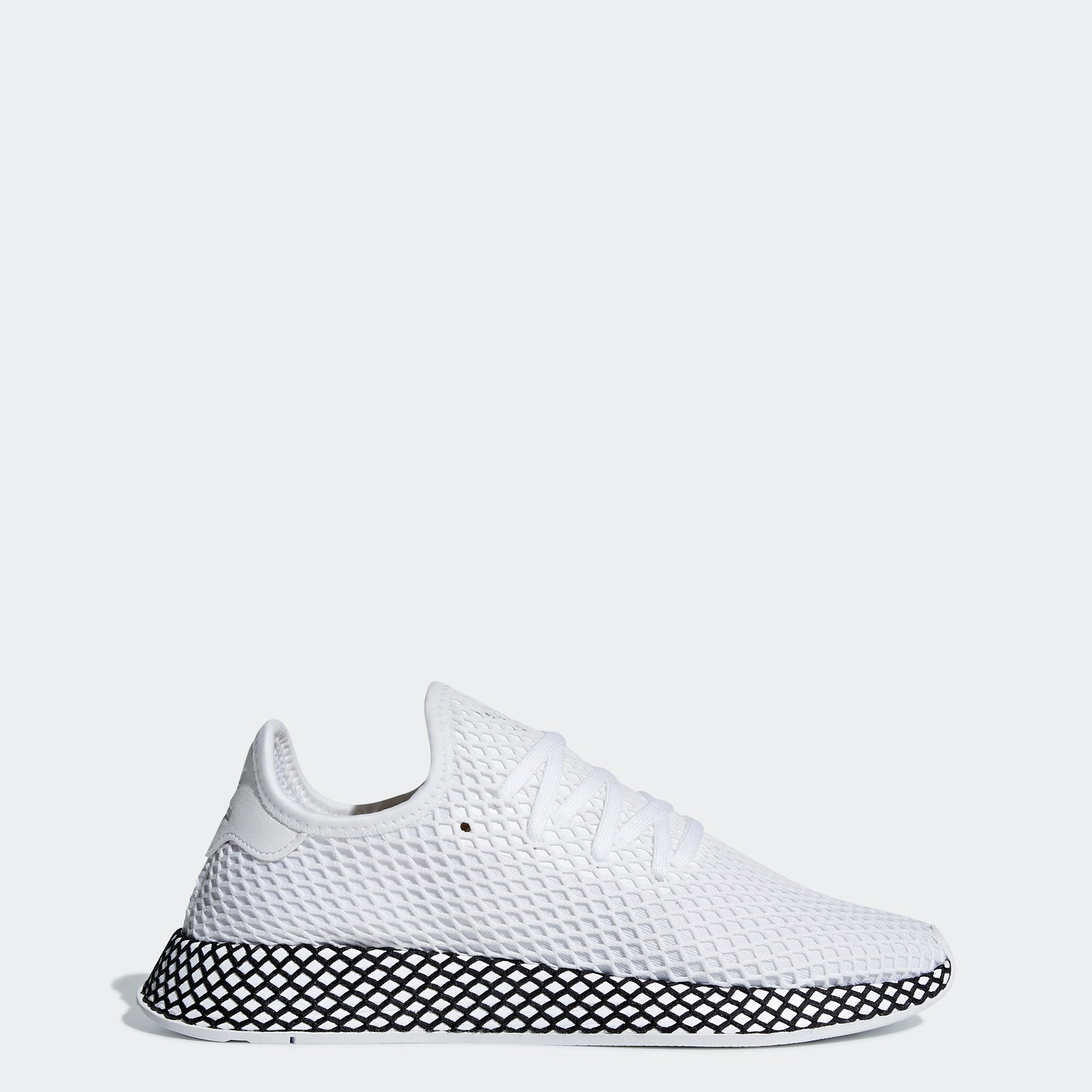 brand new d00a3 8f87d Mens adidas Originals Deerupt Runner Shoes Cloud White Core Black