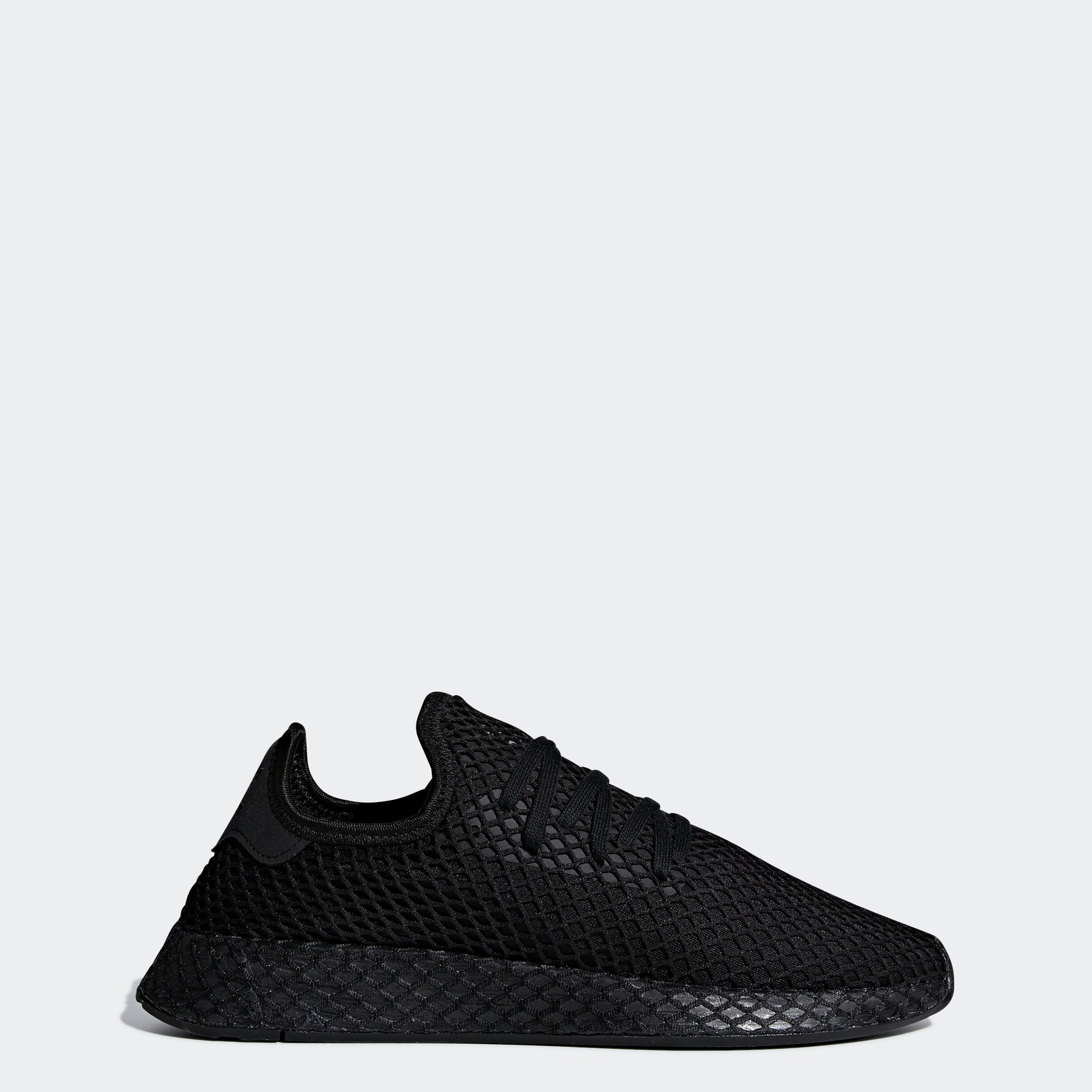 best service d2adb f6504 Mens adidas Originals Deerupt Runner Shoes Core Black Cloud White