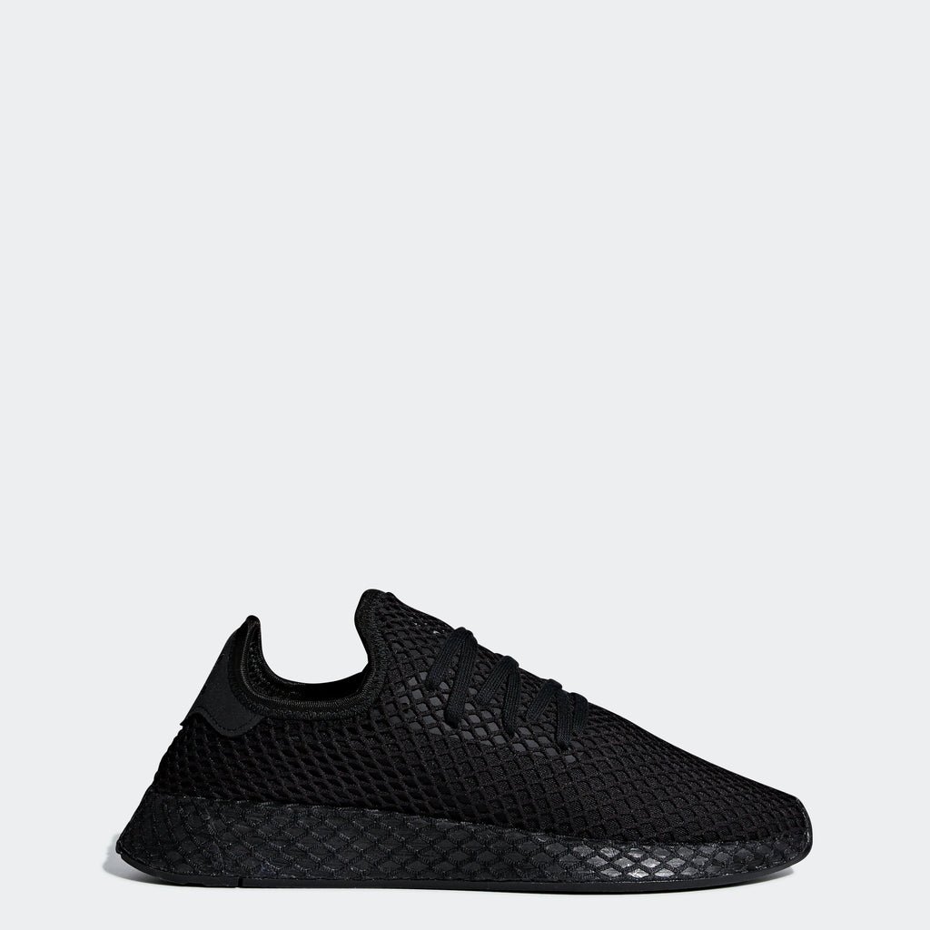 Men's adidas Originals Deerupt Runner Shoes Core Black Cloud White