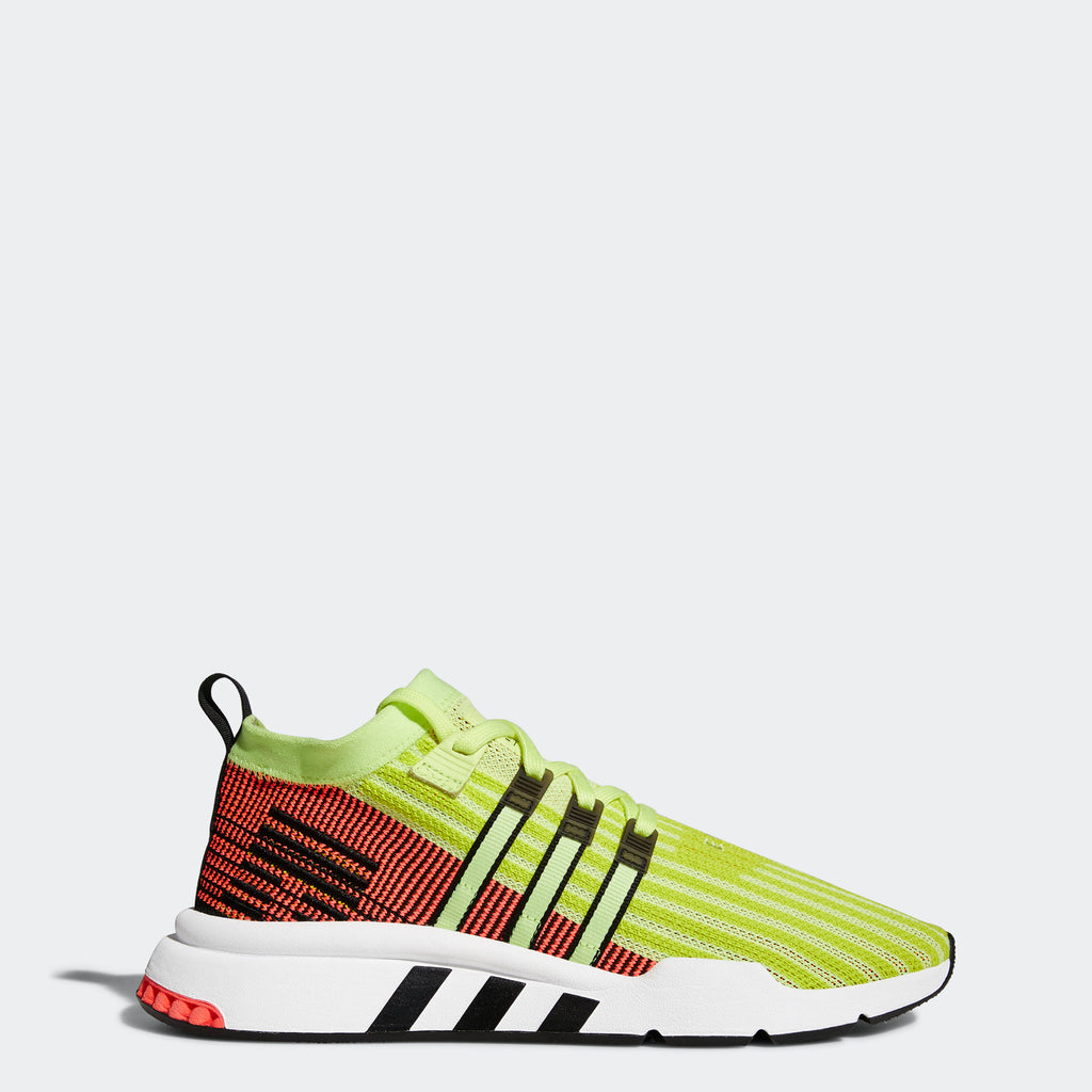 super popular a3888 18355 Men's adidas Originals EQT Support Mid ADV Primeknit Shoes Glow Yellow