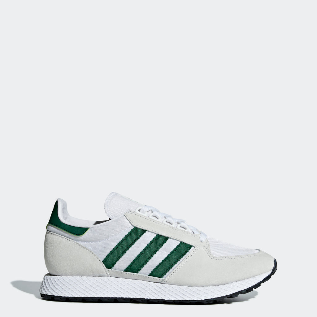 Men's adidas Originals Forest Grove Shoes Crystal White Green
