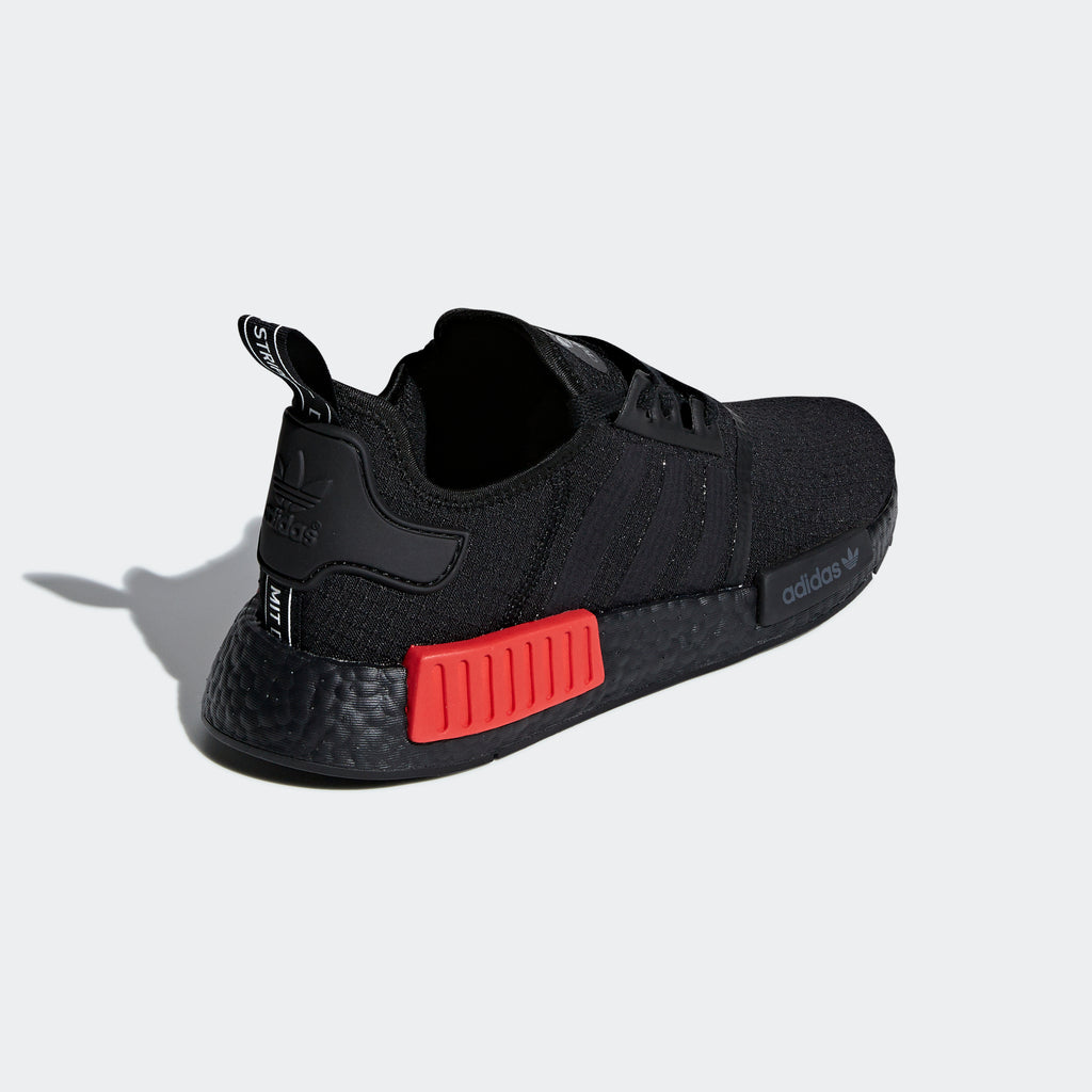 Men's adidas Originals NMD_R1 Shoes Black Lush Red