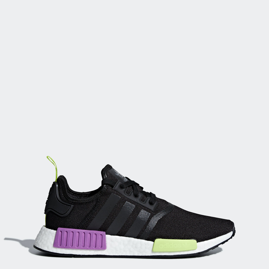 Men's adidas Originals NMD_R1 Shoes Core Black Purple