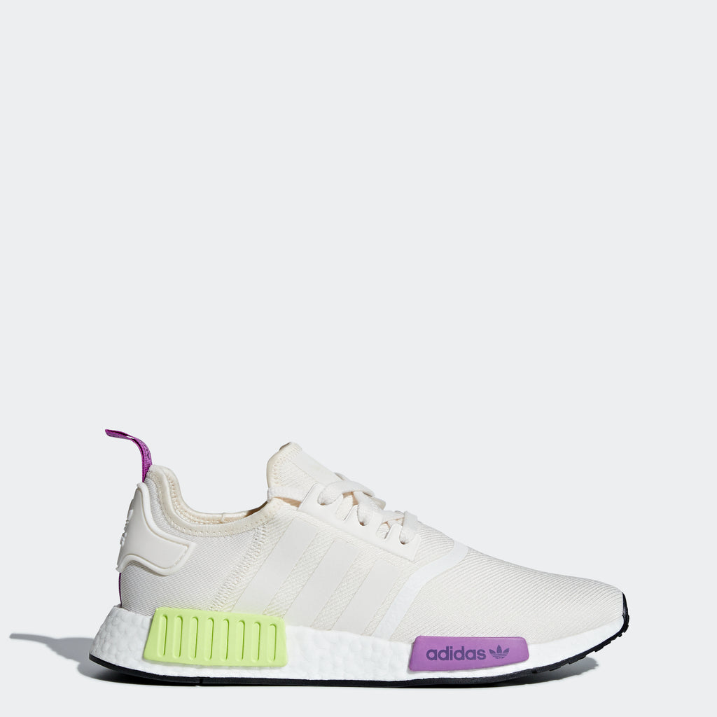 Men's adidas Originals NMD_R1 Shoes Core White Yellow