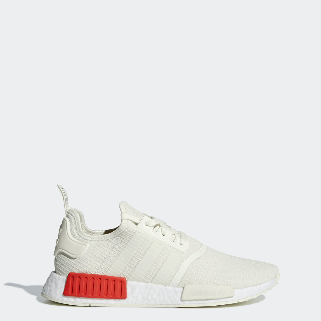 Men's adidas Originals NMD_R1 Shoes Off White Lush Red