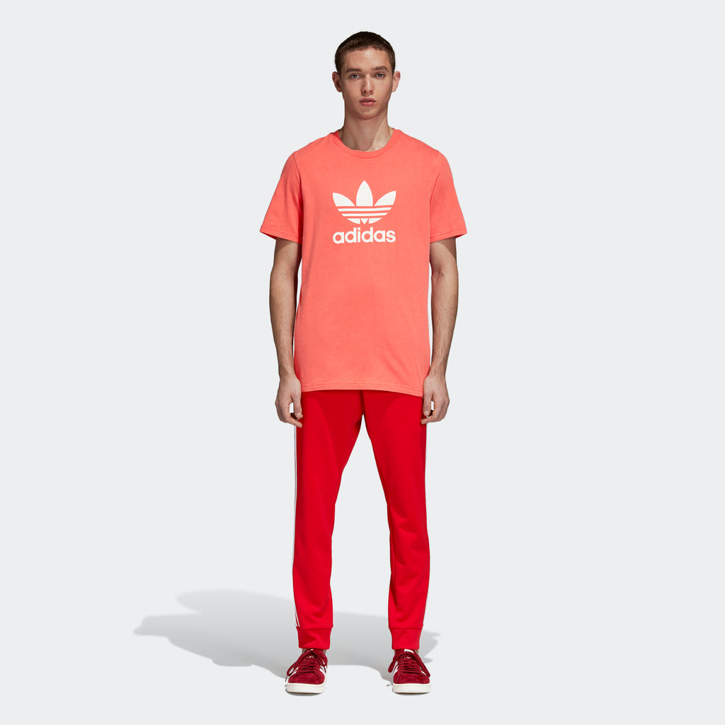 Men's adidas Originals Trefoil Tee Red