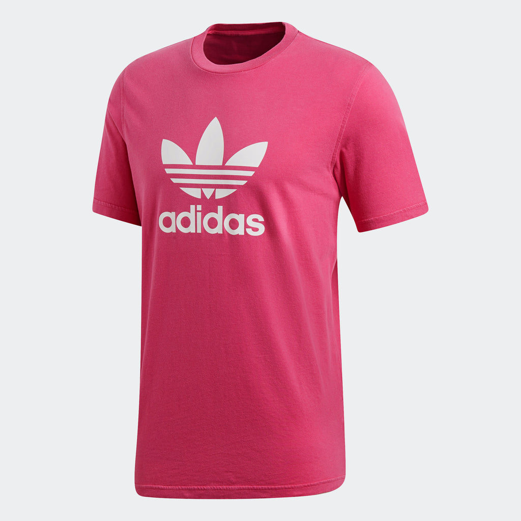 Men's adidas Originals Trefoil Tee Shock Pink
