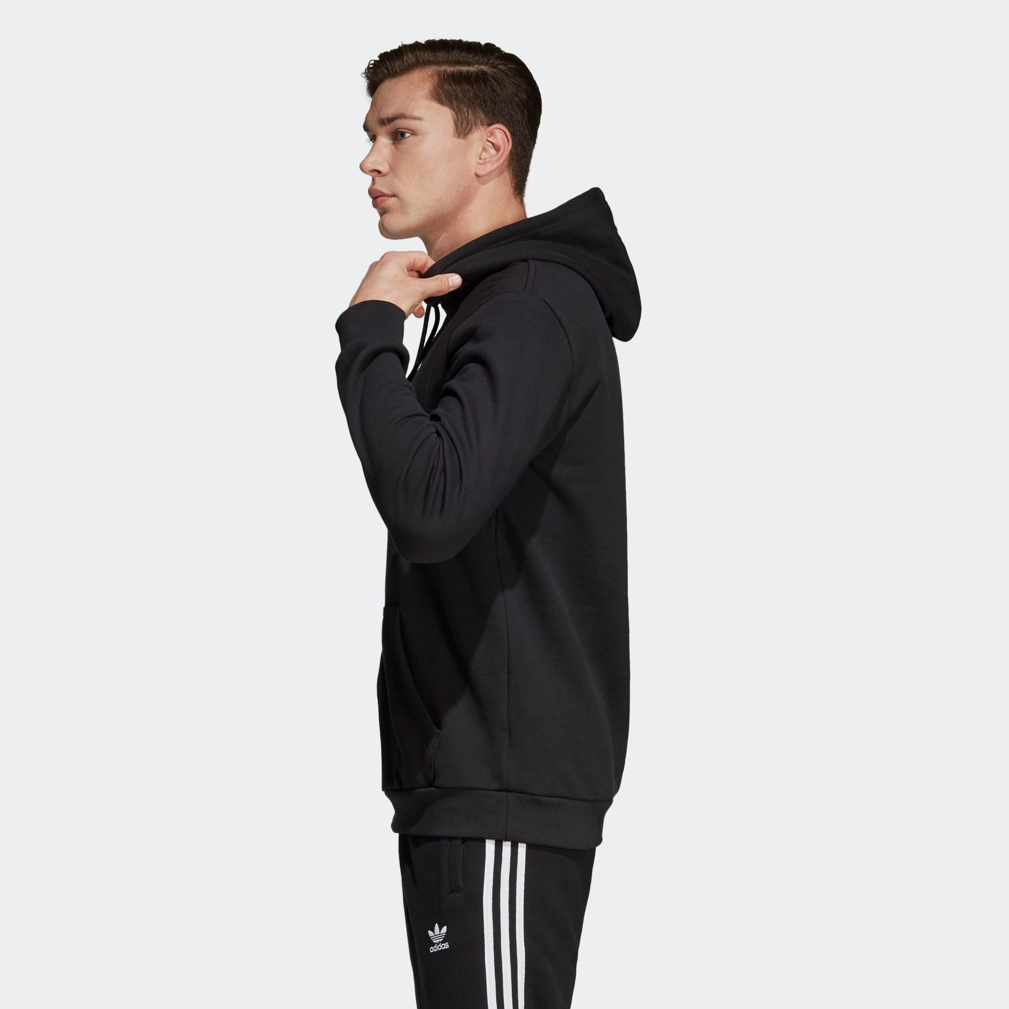 adidas Trefoil Warm Up Hoodie Black DT7964 | Chicago City Sports