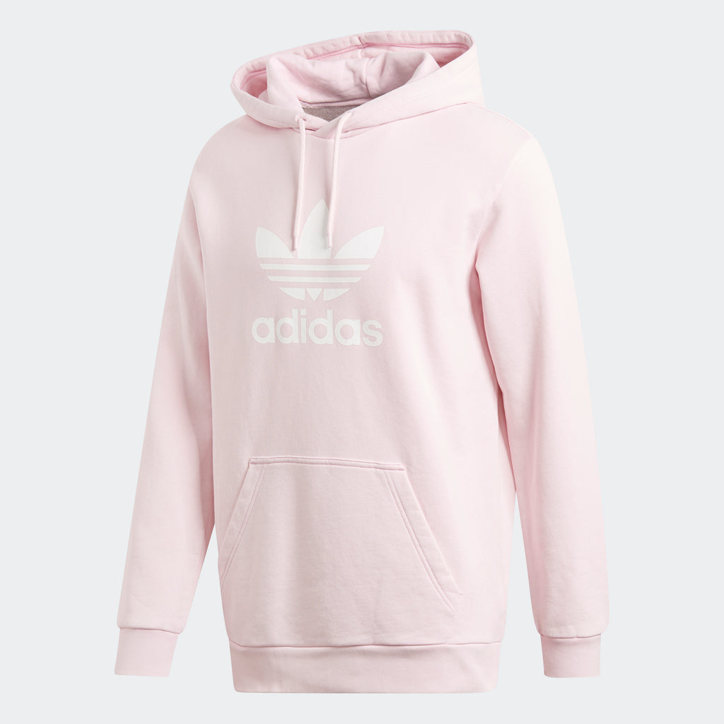 Men's adidas Originals Trefoil Warm-Up Hoodie Clear Pink