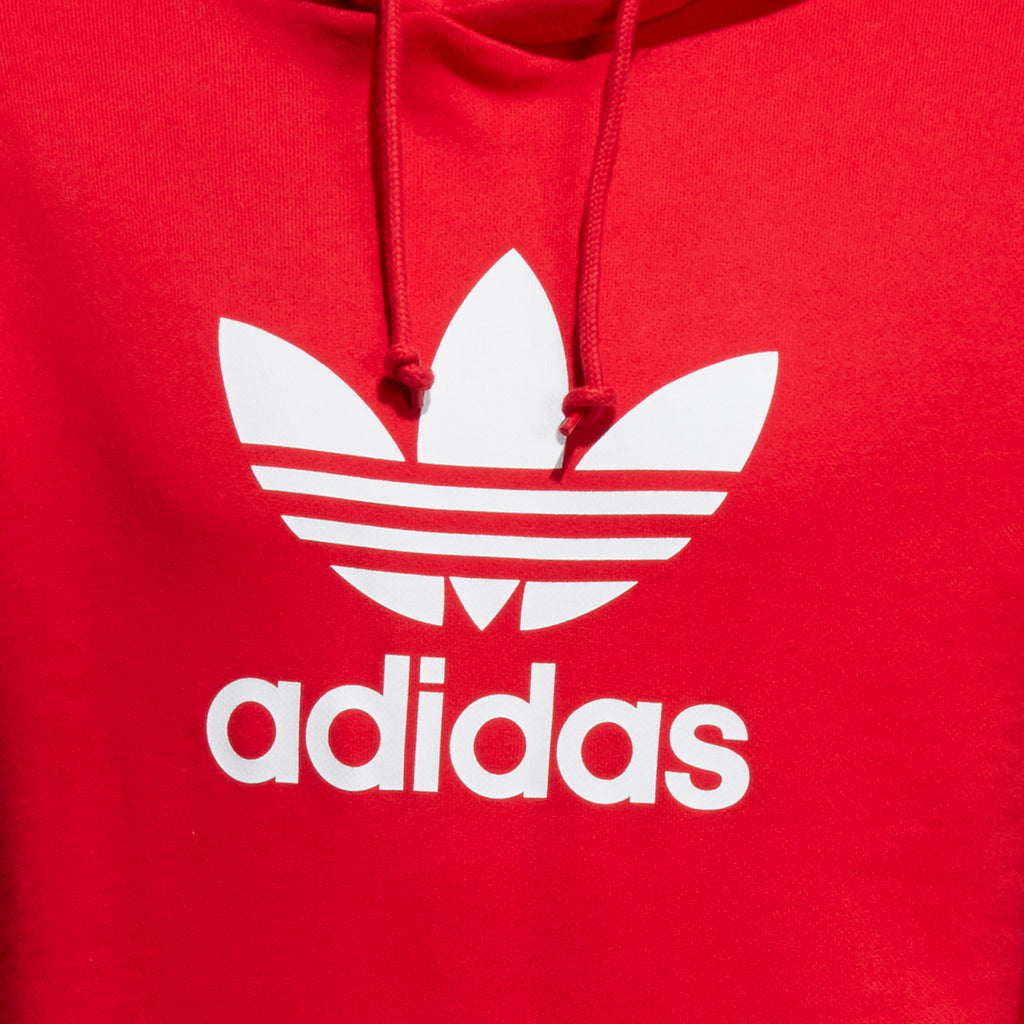 Men's adidas Originals Trefoil Warm-Up Hoodie Collegiate Red