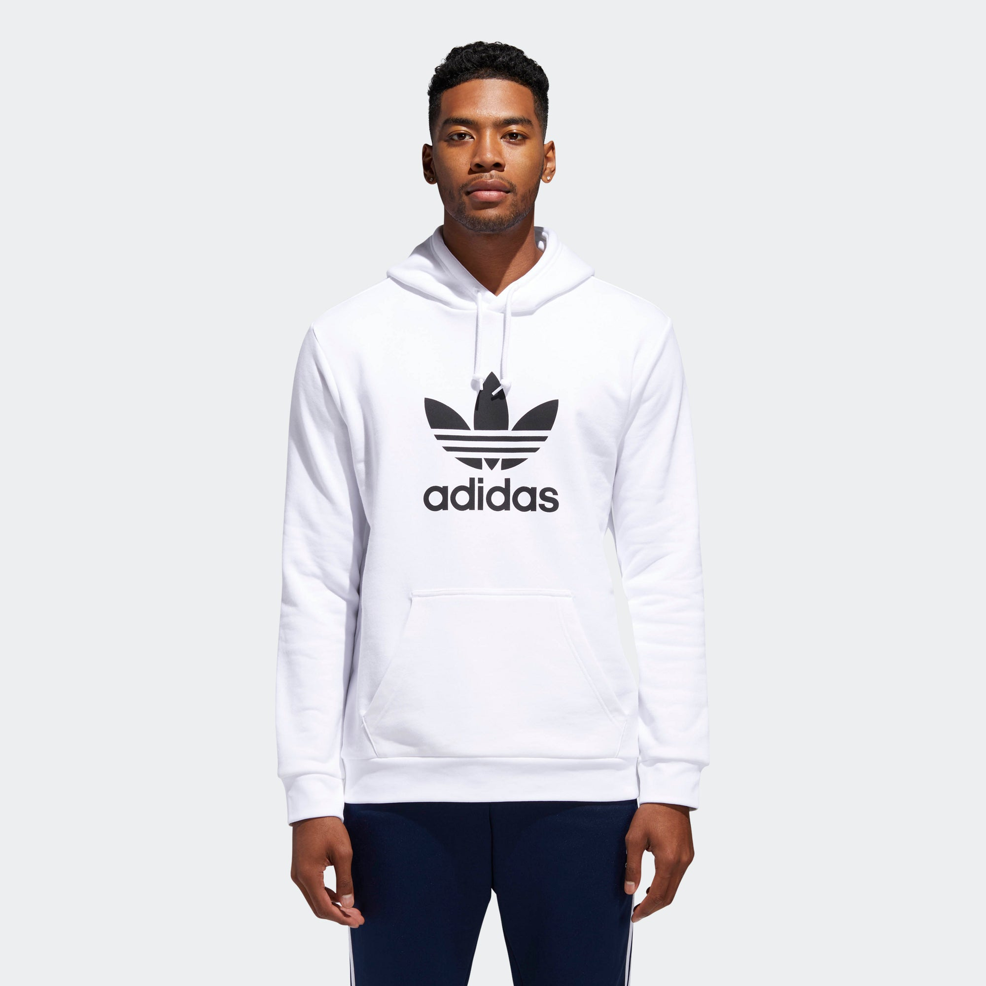 af715ea312a2 Men s adidas Originals Trefoil Warm-Up Hoodie White. 1