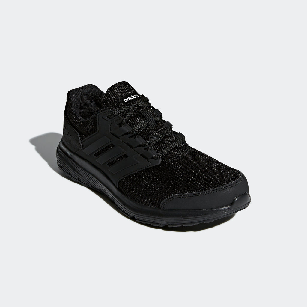 Men's Adidas Running Galaxy 4 Shoes Triple Black