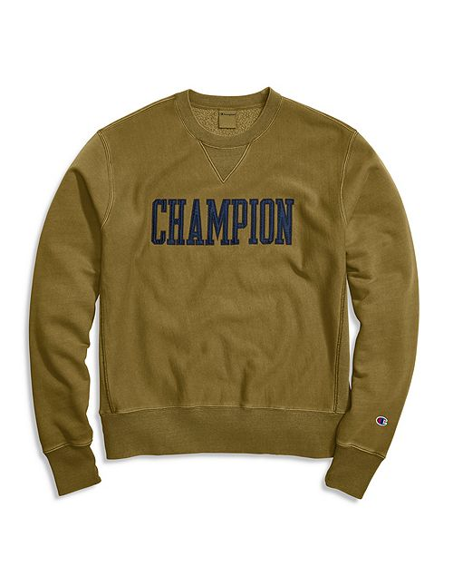 Men's Champion Life Vintage Wash Crew Imperial Gold