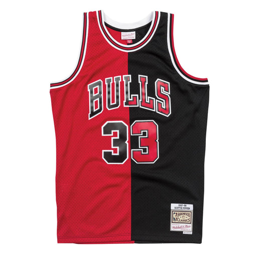 Mitchell & Ness Split Swingman Pippen Jersey Red Black