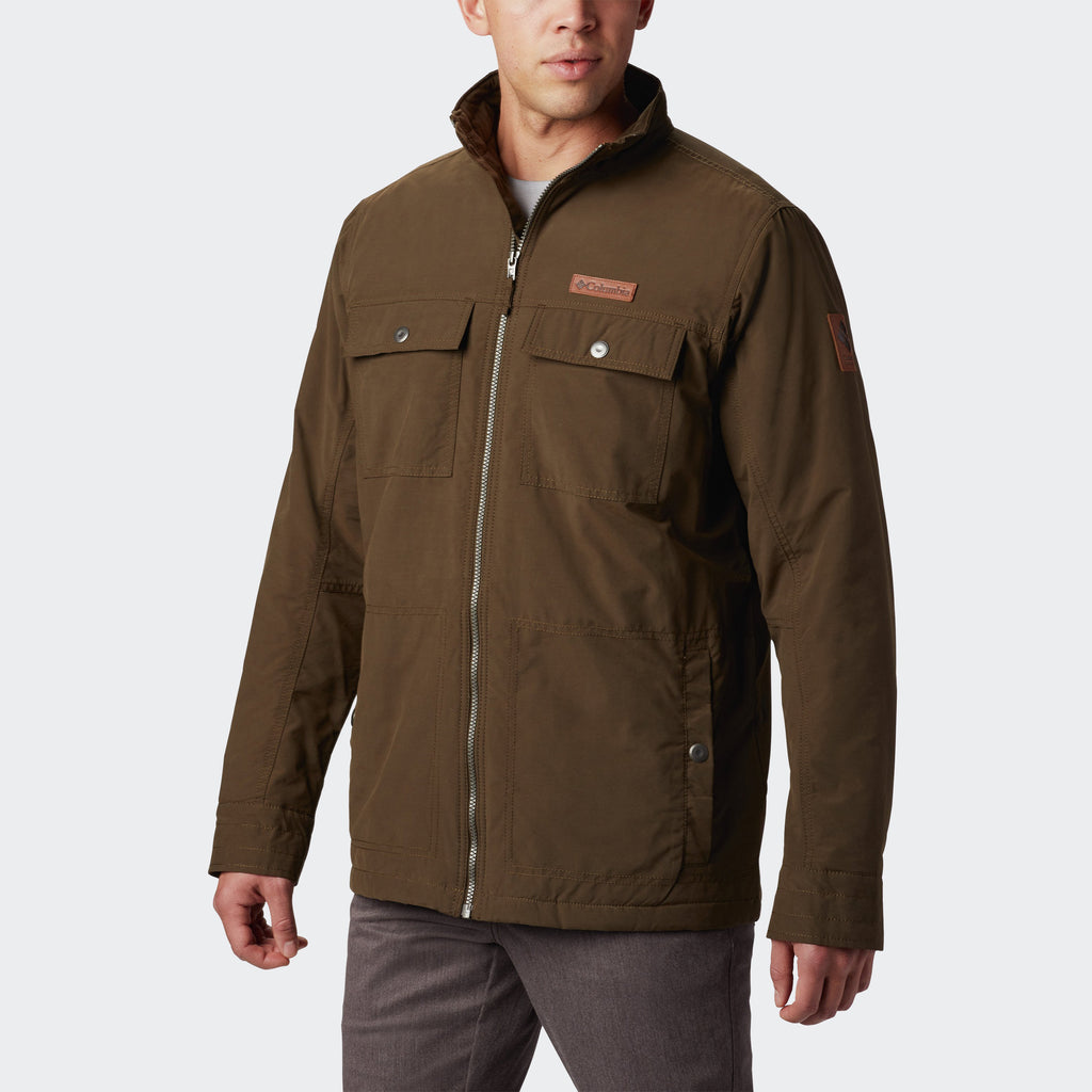 Men's Columbia Wheeler Lodge Casual Insulated Jacket Olive Green