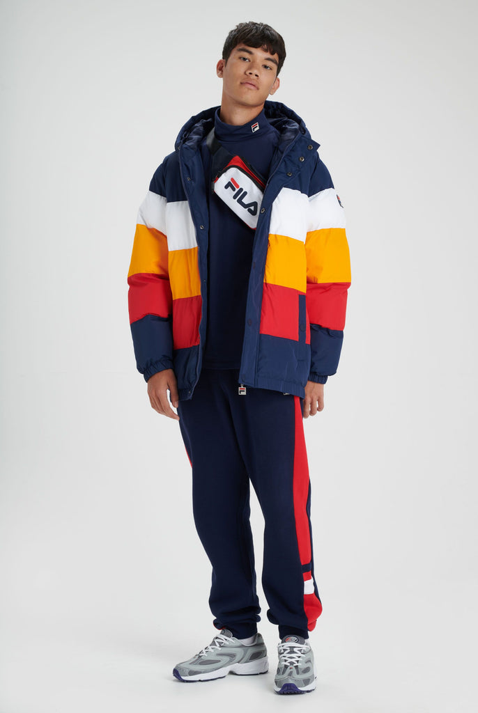 Men's FILA Giovanni Puffer Jacket Peacoat