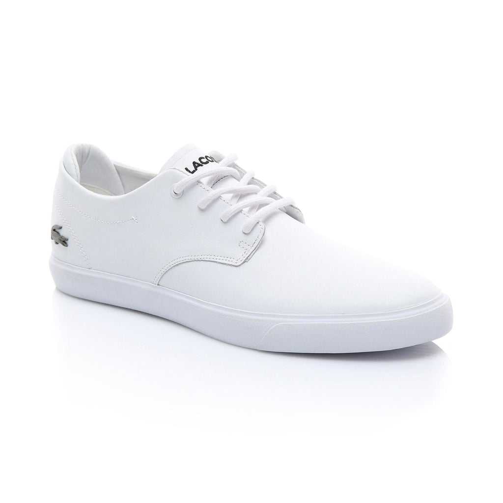 Men's Lacoste Esparre Leather Shoes White (737CMA009521G) | Chicago City Sports | side view