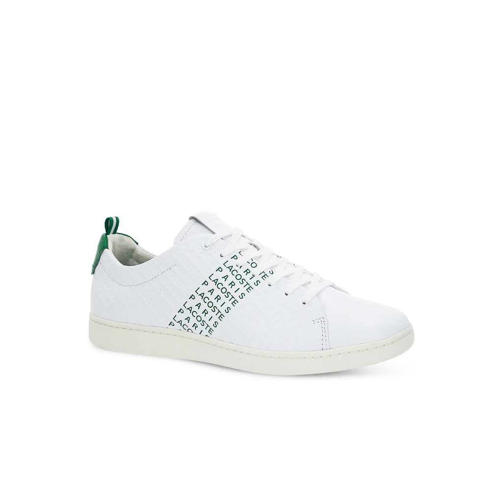 Men's Lacoste Carnaby Evo Embossed Leather Trainers (737SMA0014082) | Chicago City Sports | side view