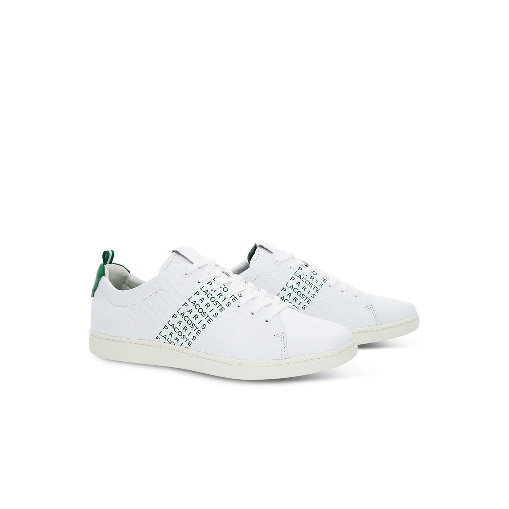Men's Lacoste Carnaby Evo Embossed Leather Trainers (737SMA0014082) | Chicago City Sports | side views