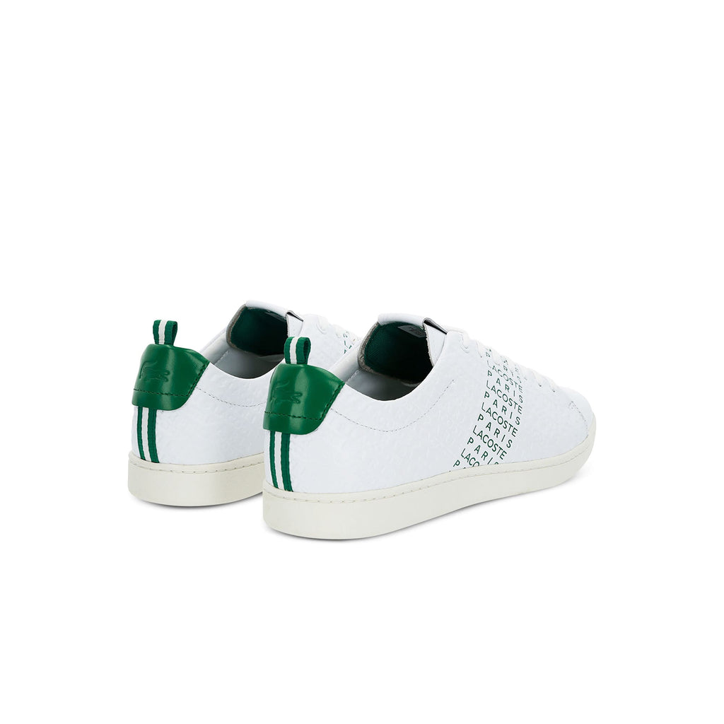 Men's Lacoste Carnaby Evo Embossed Leather Trainers (737SMA0014082) | Chicago City Sports | rear views