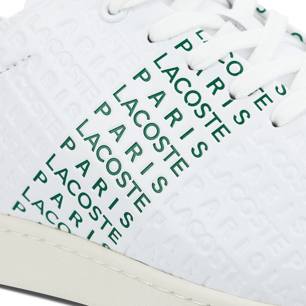 Men's Lacoste Carnaby Evo Embossed Leather Trainers (737SMA0014082) | Chicago City Sports | detailed side view