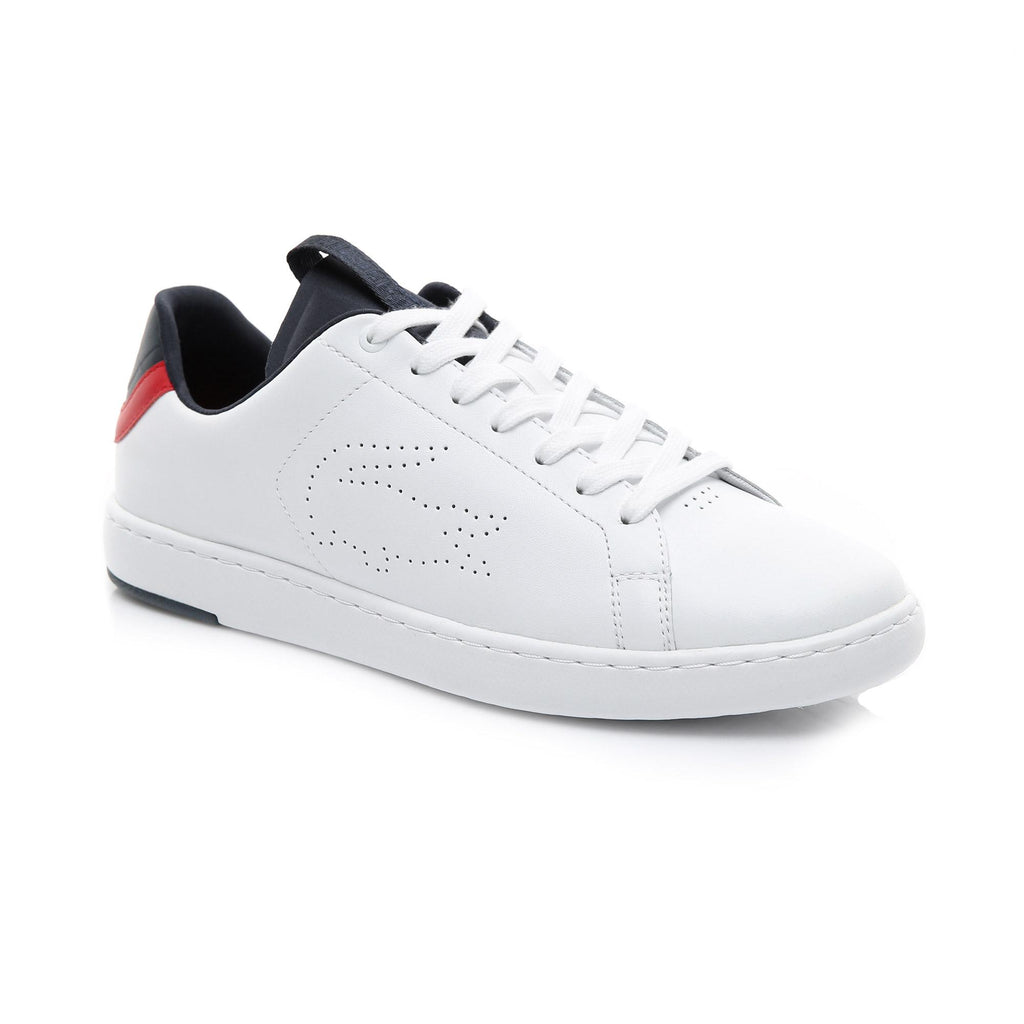 Men's Lacoste Carnaby Evo Light Shoes White Navy (737SMA0015407) | Chicago City Sports | diagonal view