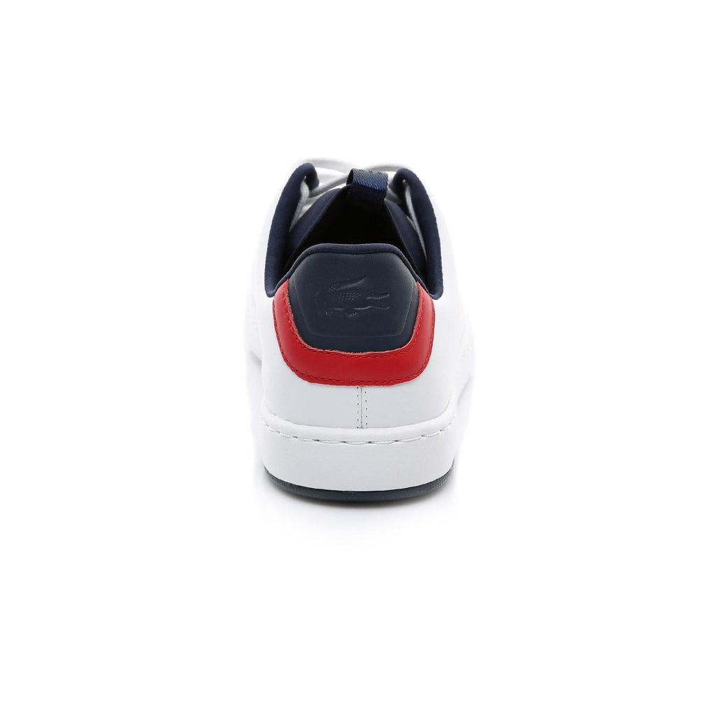 Men's Lacoste Carnaby Evo Light Shoes White Navy (737SMA0015407) | Chicago City Sports | rear view