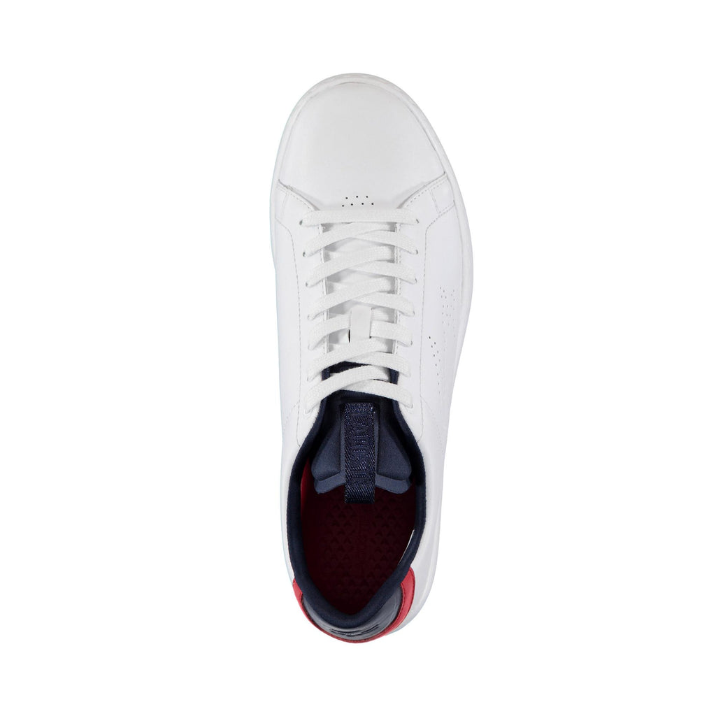 Men's Lacoste Carnaby Evo Light Shoes White Navy (737SMA0015407) | Chicago City Sports | top view