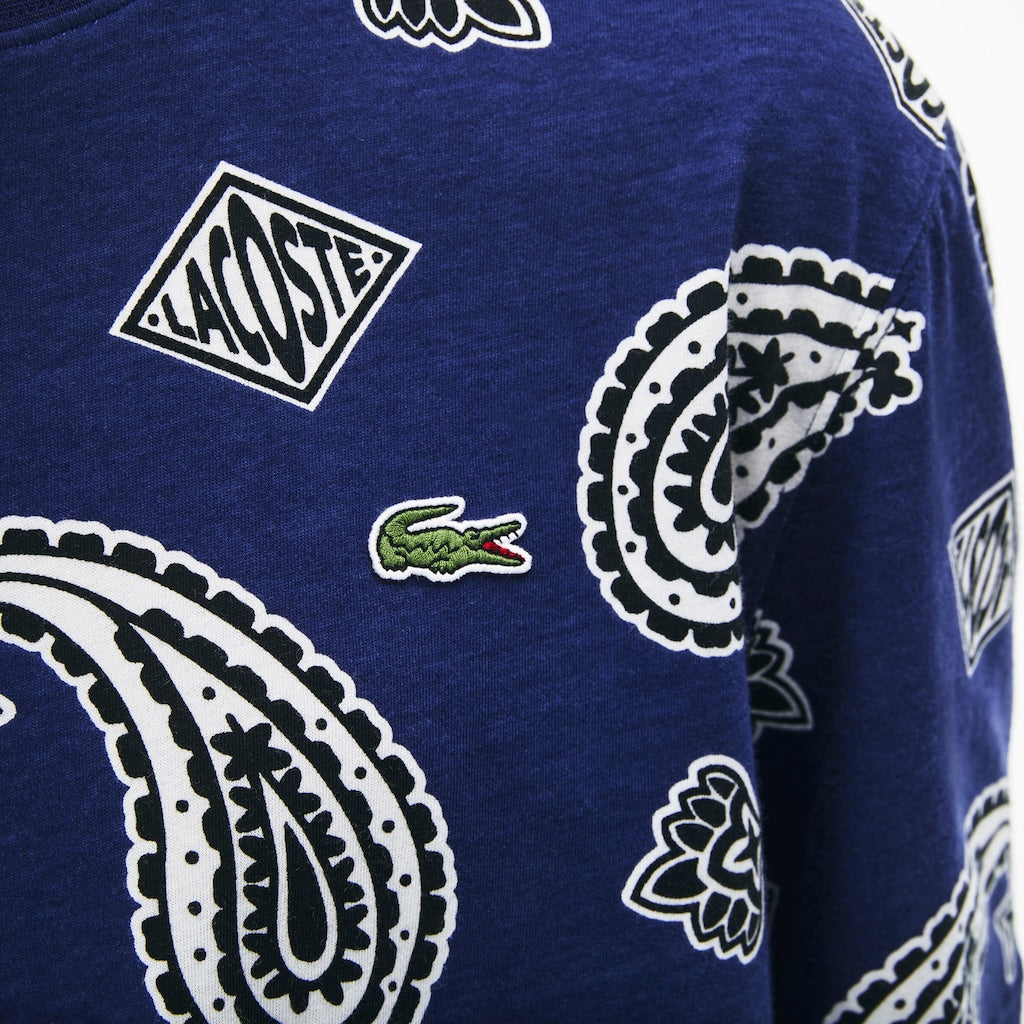 Men's Lacoste LIVE Paisley Tee Navy Blue