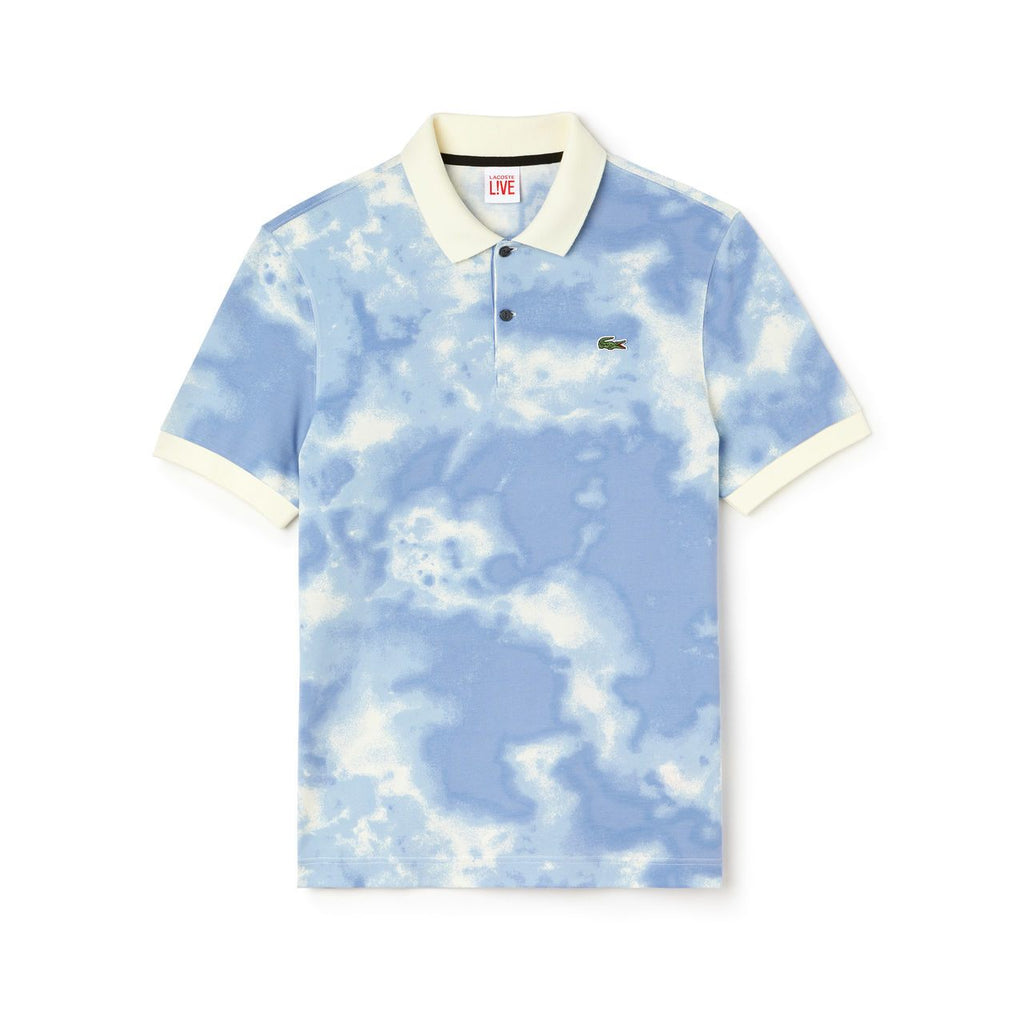 Men's Lacoste Live Cloud Print Polo