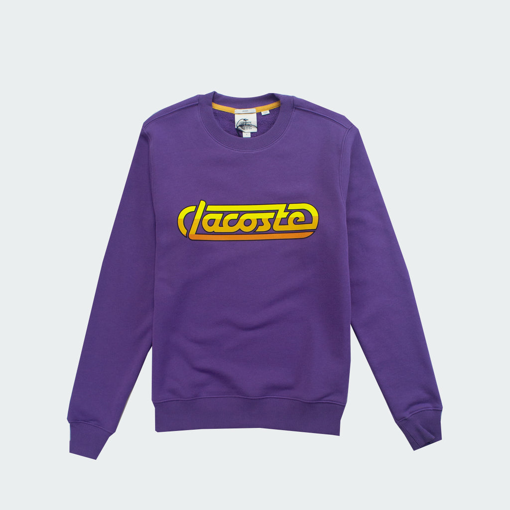 Unisex Lacoste LIVE Racing Sweatshirt Purple