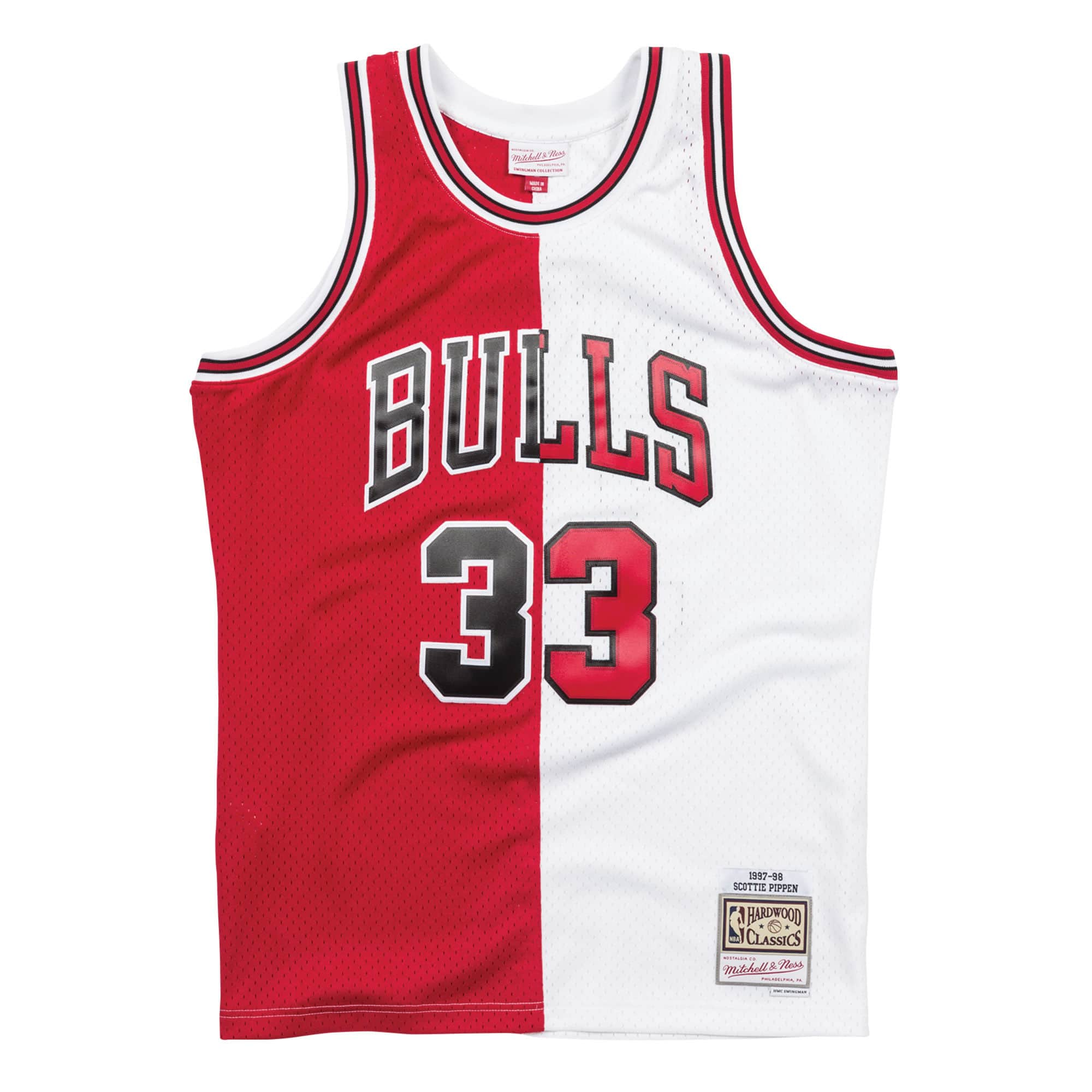the latest ea731 9b987 Mitchell & Ness Split Pippen Jersey SMJYSCWH | Chicago City ...