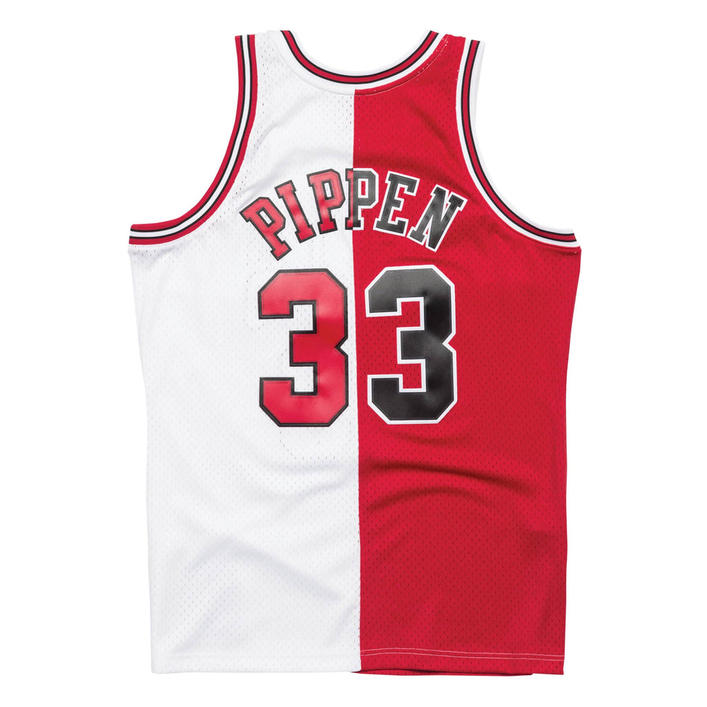 Mitchell & Ness Split Swingman Pippen Jersey Red White